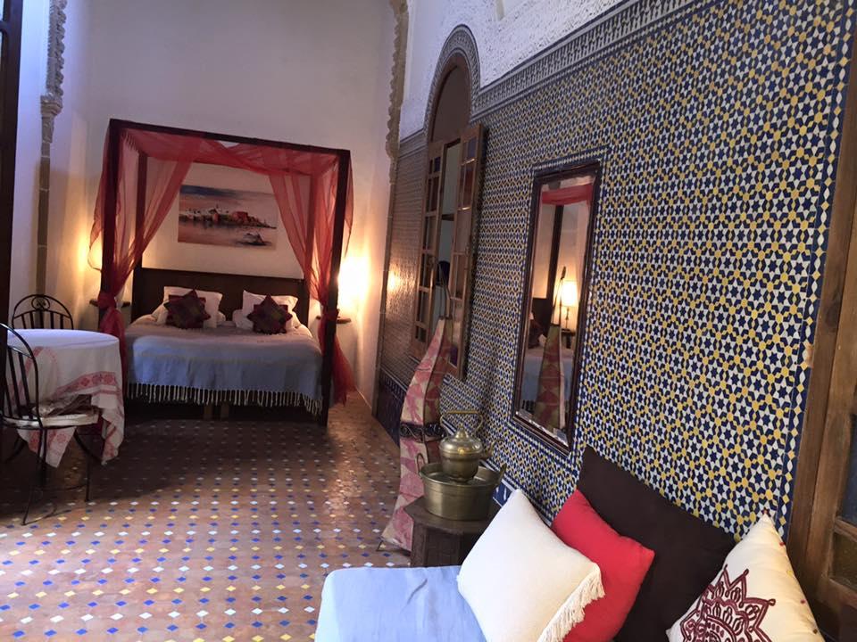 Suite Oudayas en décoration rouge