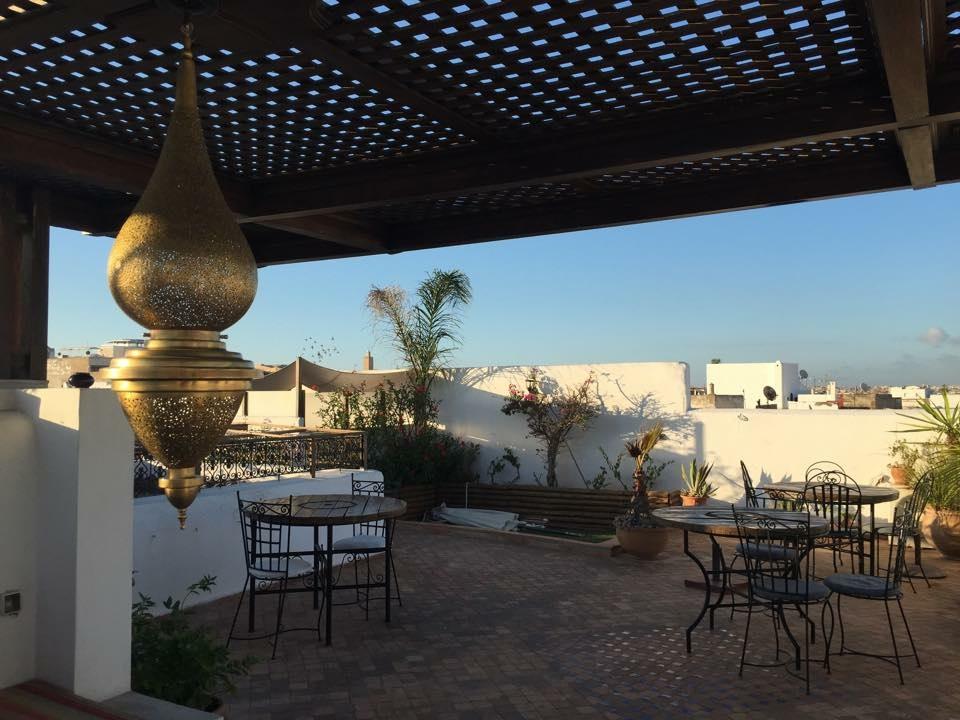 Mamouni sur la terrasse