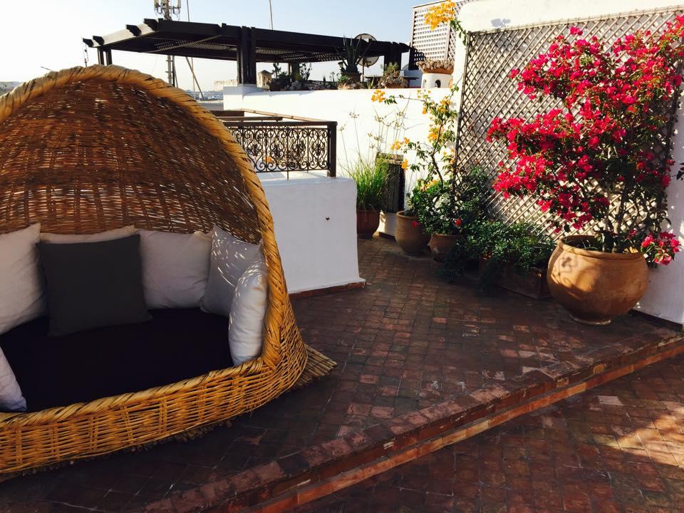 Soirée d'été sur la terrasse